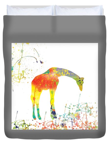 Duvet Cover featuring the digital art Hello by Trilby Cole