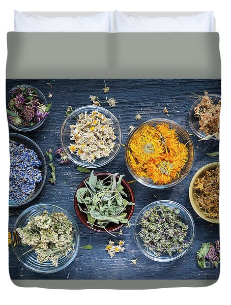 Duvet Cover featuring the photograph Herbs by Elena Elisseeva