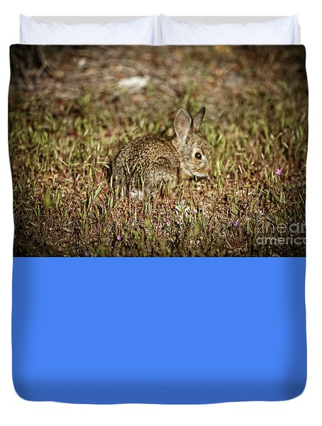 Duvet Cover featuring the photograph Here I Am by Robert Bales