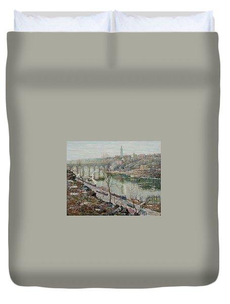 High Bridge, Harlem River Duvet Cover