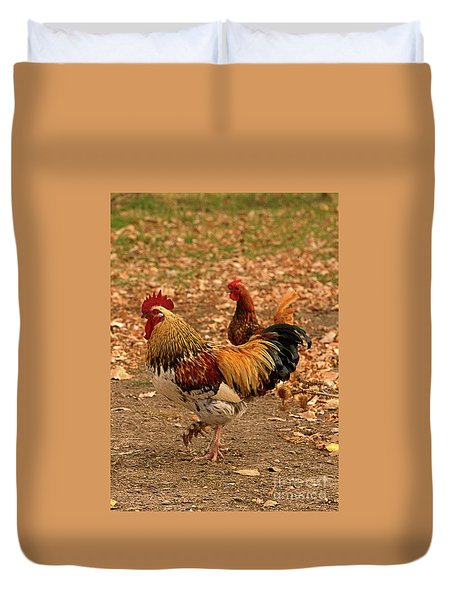 High-stepping Rooster Duvet Cover