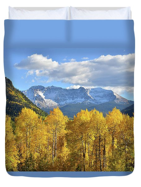 Duvet Cover featuring the photograph Highway 145 Colorado by Ray Mathis
