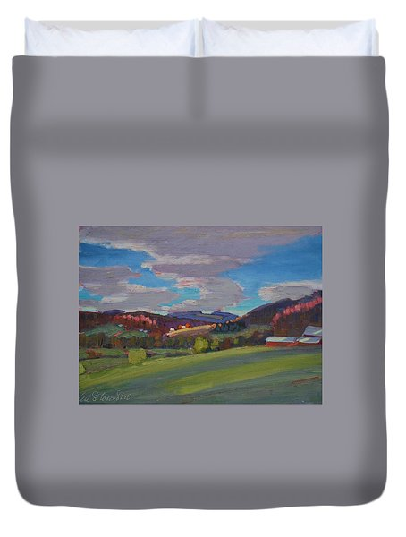 Hills Of Upstate New York Duvet Cover