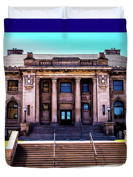 Duvet Cover featuring the photograph Historic Public Library by Onyonet  Photo Studios