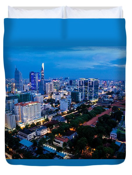 Ho Chi Minh City Night Duvet Cover