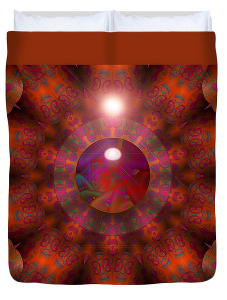 Duvet Cover featuring the digital art Hold On by Robert Orinski