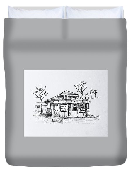 Hole In The Wall Books Duvet Cover