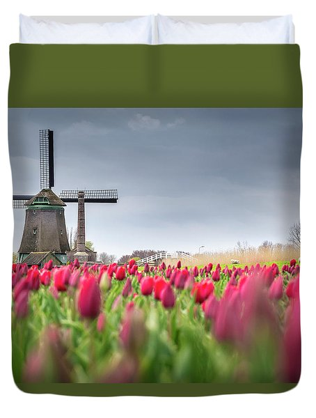 Holland Windmill Duvet Cover