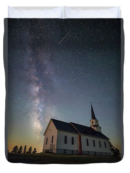 Duvet Cover featuring the photograph Holy  by Aaron J Groen