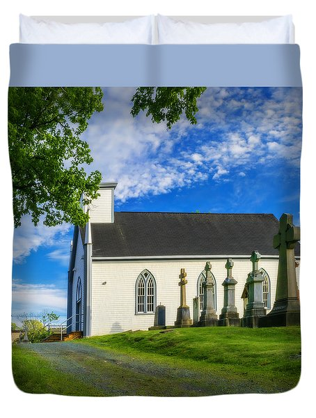 Holy Cross Cemetery Duvet Cover