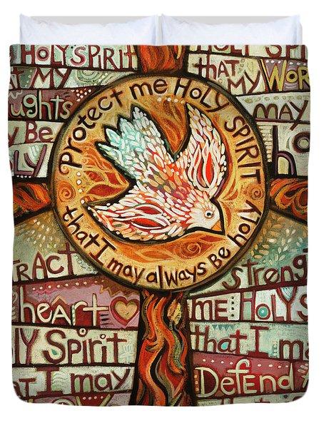 Holy Spirit Prayer By St. Augustine Duvet Cover