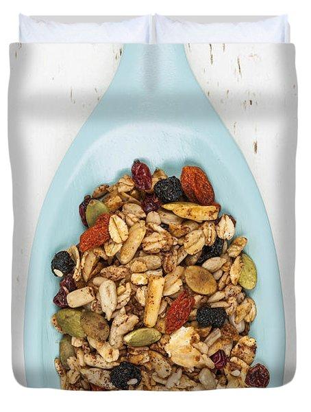 Homemade Granola In Spoon Duvet Cover