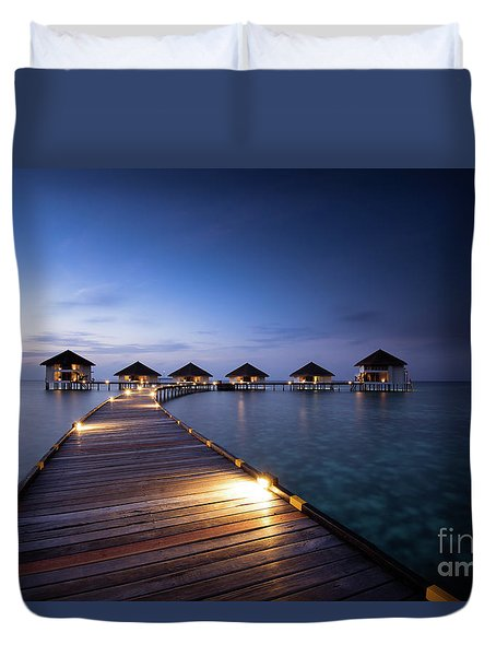Duvet Cover featuring the photograph Honeymooners Paradise by Hannes Cmarits