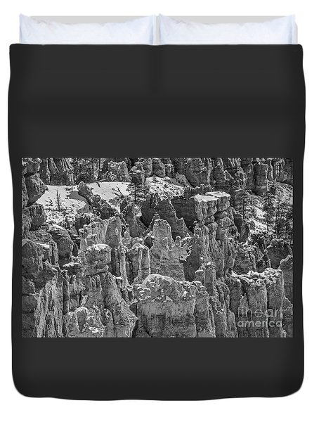 Hoodoos After A Snowfall Duvet Cover by Sue Smith