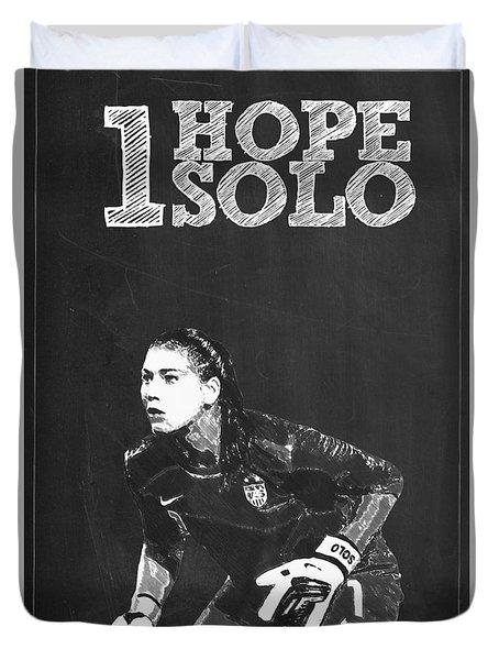Hope Solo Duvet Cover by Semih Yurdabak