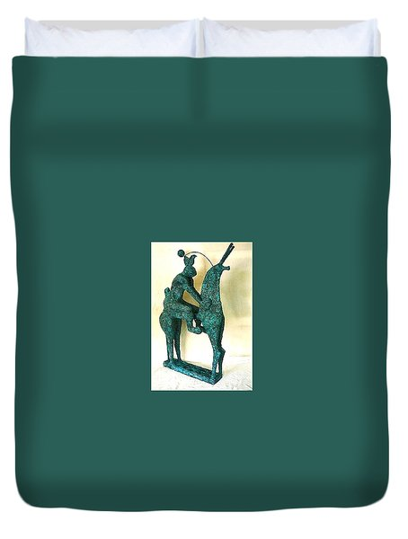 Horse And Hare Duvet Cover