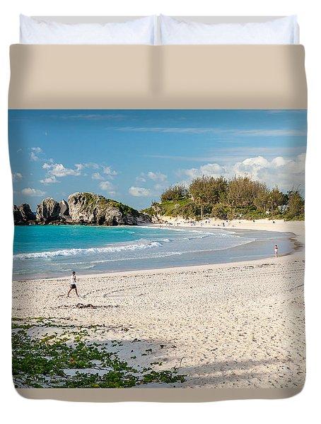 Horseshoe Bay In Bermuda Duvet Cover