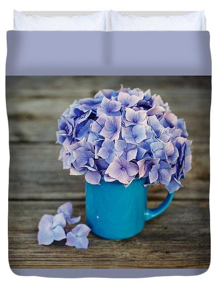 Hortensia Flowers Duvet Cover