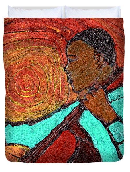 Hot Jazz Duvet Cover by Wayne Potrafka