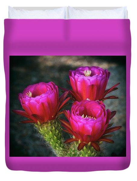 Duvet Cover featuring the photograph Hot Pink  by Saija Lehtonen