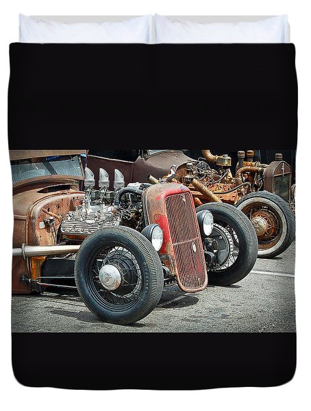 Hot Rods Duvet Cover by Steve McKinzie