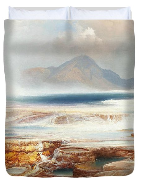Hot Springs Of The Yellowstone Duvet Cover