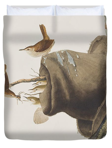 House Wren Duvet Cover by John James Audubon