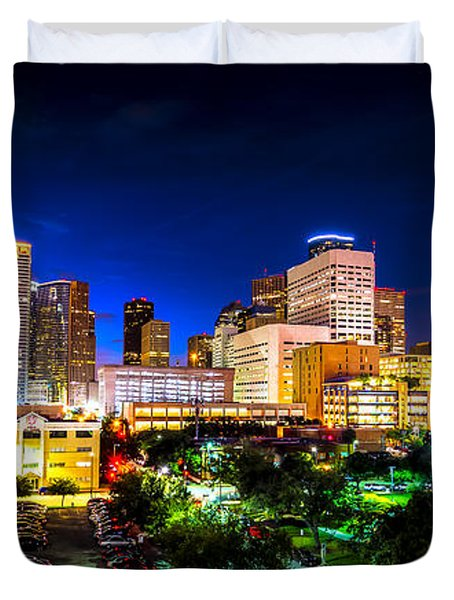 Houston City Lights Duvet Cover