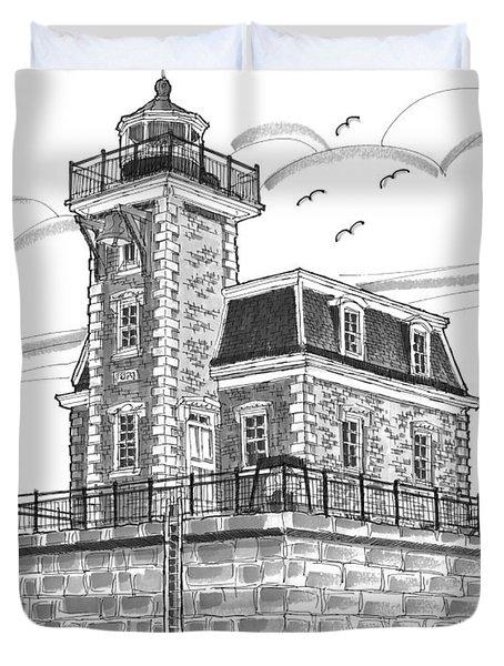 Hudson-athens Lighthouse Duvet Cover