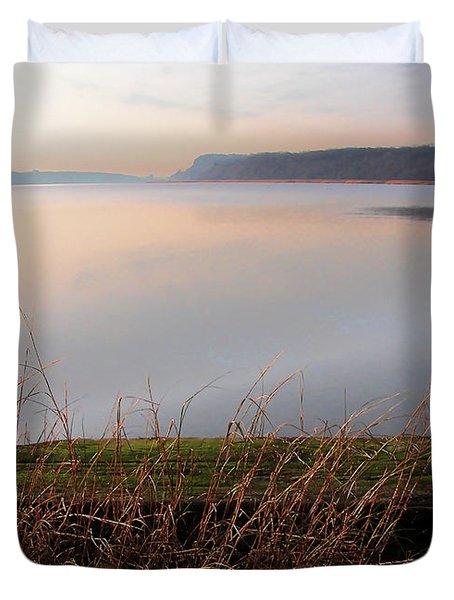 Hudson River Vista Duvet Cover