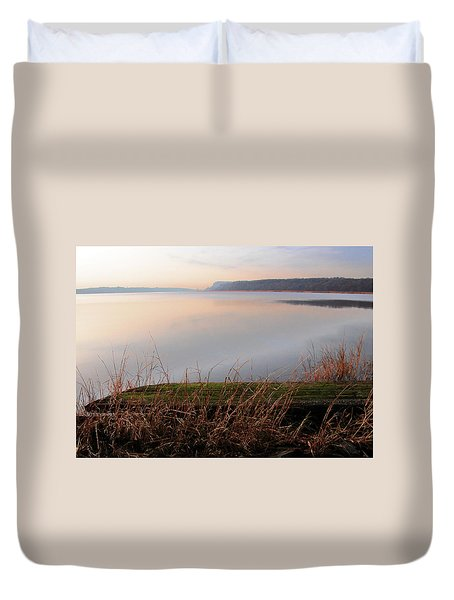 Hudson River Vista Duvet Cover