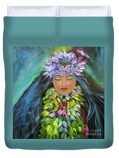 Hula Maiden Duvet Cover