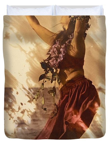 Hula On The Beach Duvet Cover
