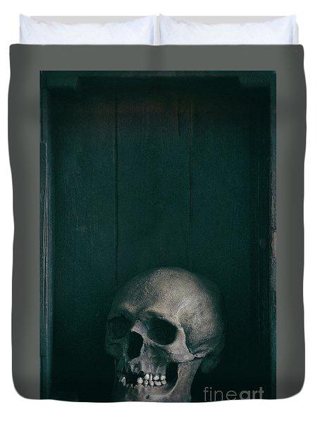 Human Skull Duvet Cover