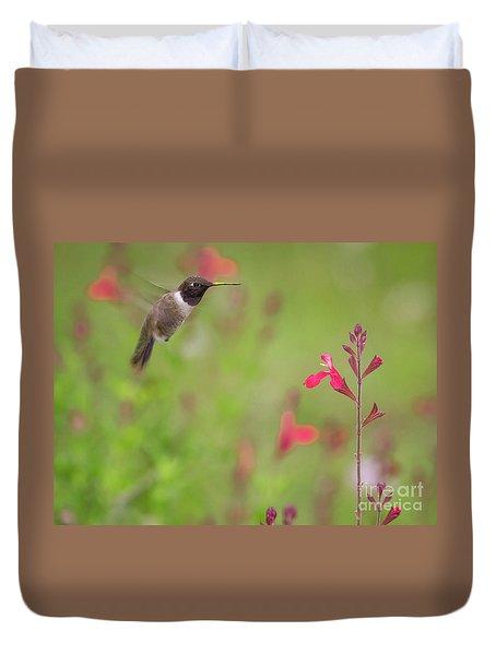 Hummingbird And Sage Duvet Cover