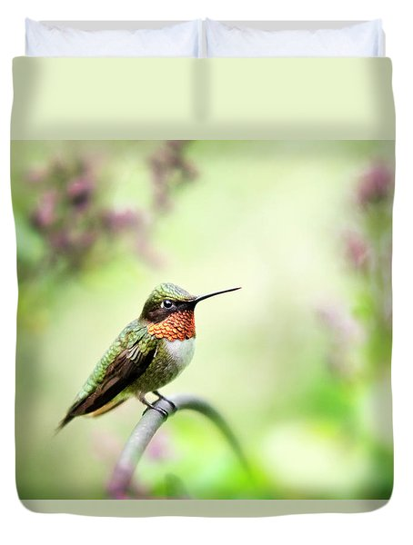 Duvet Cover featuring the photograph Hummingbird II by Christina Rollo