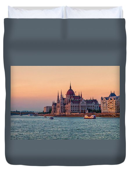 Hungarian Parliament Building In Budapest, Hungary Duvet Cover