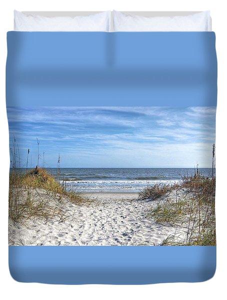 Huntington Beach South Carolina Duvet Cover by Kathy Baccari