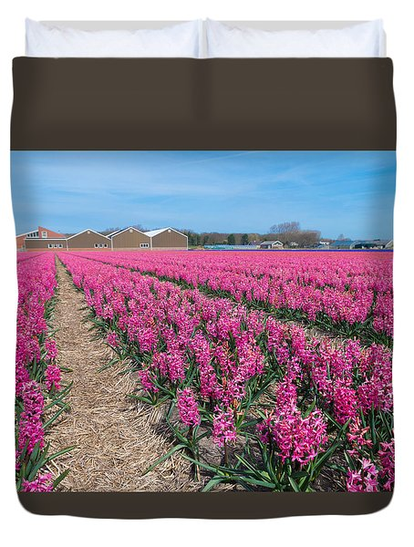 Duvet Cover featuring the photograph Hyacinth Flowers by Hans Engbers
