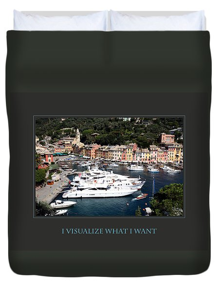 I Visualize What I Want Duvet Cover by Donna Corless