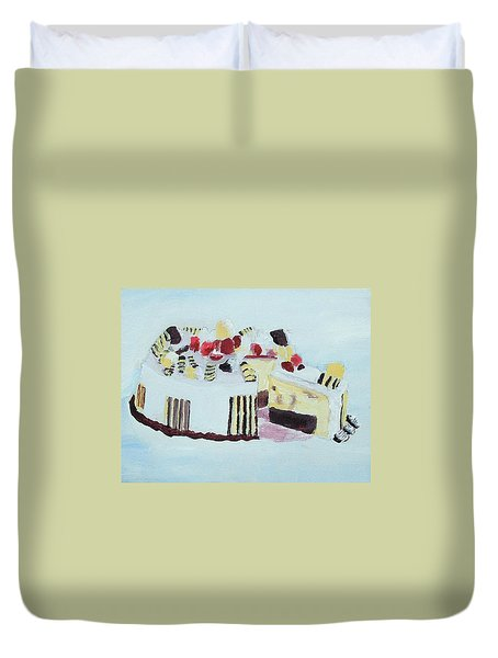 Ice Cream Cake Oil On Canvas Duvet Cover