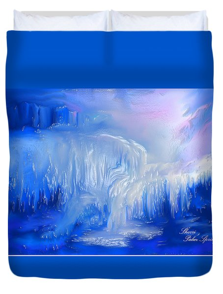 Ice Falls Duvet Cover