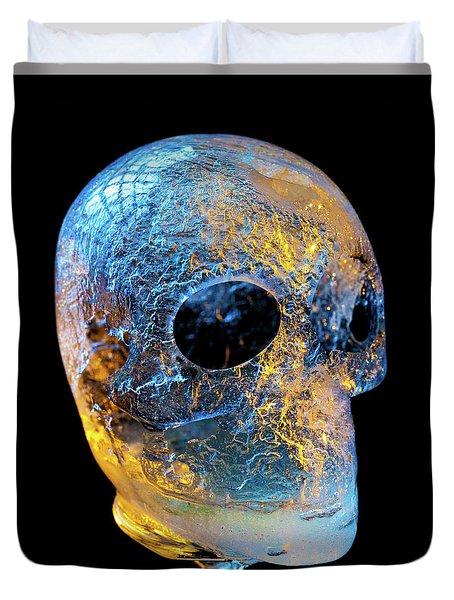 Ice Skull Duvet Cover