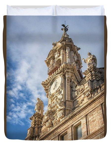 Duvet Cover featuring the photograph Iglesia De Los Santos Juanes Valencia Spain by Joan Carroll