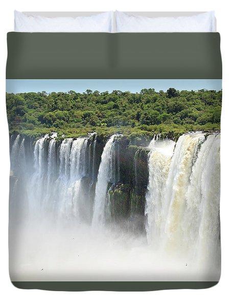 Duvet Cover featuring the photograph Iguazu Falls by Silvia Bruno