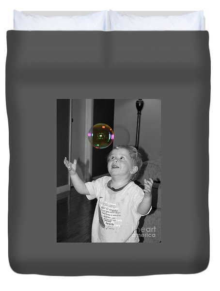 Duvet Cover featuring the photograph Imagine by Robert Meanor