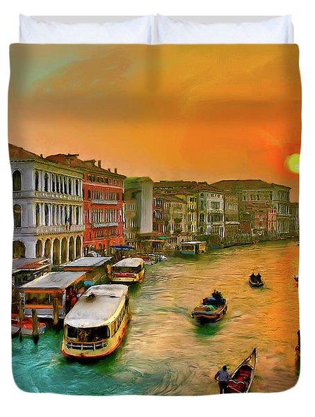 Imbarcando. Venezia Duvet Cover