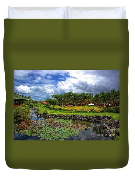 In Bali Duvet Cover by Charuhas Images