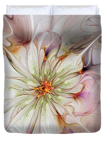 In Full Bloom Duvet Cover by Amanda Moore