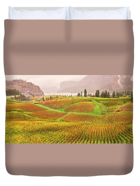 Duvet Cover featuring the photograph In The Early Morning Rain by John Poon